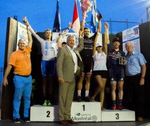 Podium Mardis cyclistes de Lachine