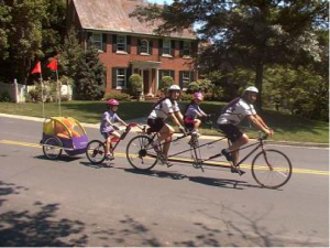 photo vélo en famille