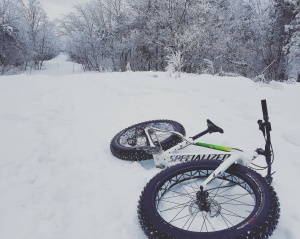 fat bike sur le Mont-Royal