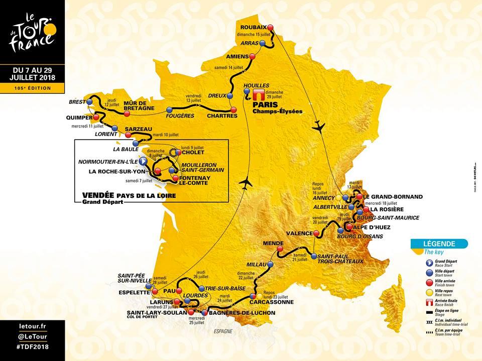 Parcours du Tour de France 2018