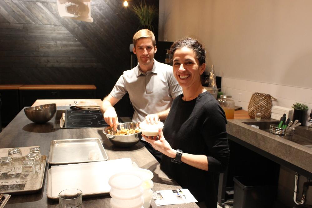 atelier culinaire en compagnie d'Hugo Houle et Mélanie Olivier