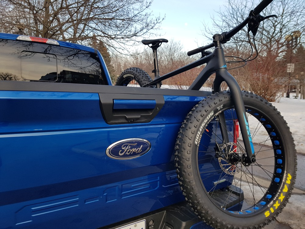 tailgate and mountain bike